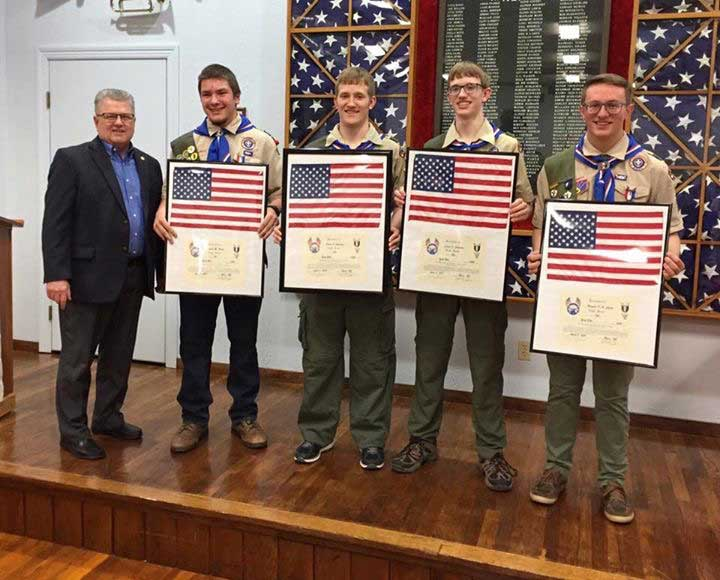 Celebrating with the Eagle Scouts